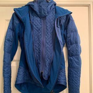 Lululemon fleece-lined puffer coat
